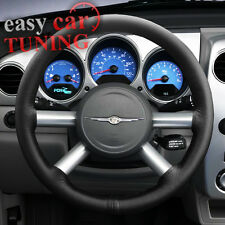 FOR CHRYSLER PT CRUISER 2000-10 BLACK REAL GENUINE LEATHER STEERING WHEEL COVER