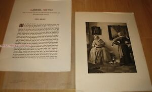 GABRIEL METSU - LADY READING A LETTER * GERMAN PHOTOGRAVURE 1900