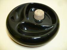 schöner PFEIFEN ASCHENBECHER - schwarz - rund  - NEU - 520715