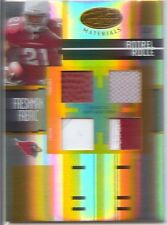 antrel rolle rookie rc 4x quad materials jersey giants miami hurricanes #/25