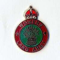 Lapel Badge Womens Land Army Kings Crown