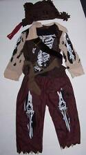 The Children's Place Deluxe Pirate Costume w hat Size 4 Halloween dress up Bones
