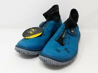 New Under Armour Speed Tire Hiking Shoes Black Blue 1289139-918 Sz 8.5