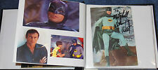 BATMAN TV & MOVIE SCRAPBOOK~SIGNED ADAM WEST~BURT WARD~KEATON~NICHOLSON~HARDY