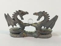 Spoontiques Two Dragons Holding Crystal Ball #MR892