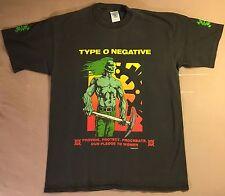 Type O Negative 1995 T-Shirt M/L Pledge to Women Vtg tour carnivore peter steele