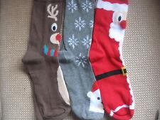 Pack of 3 Ladies' Novelty Christmas socks, size 4-8