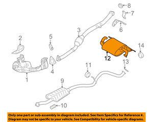 SUBARU OEM 12-15 Impreza 2.0L-H4-Muffler 44300FJ120