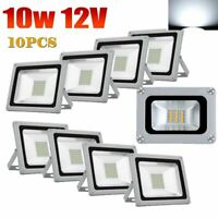 10x LED Flood Light 10W Outdoor Spotlight Landscape Lamp AC110V/DC12V Cool White