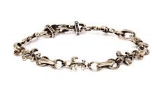 "Robert Coin Fleur-De-Lis Silver 7"" Bracelet 0143"