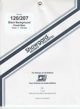 Showgard Long Black Stamp Mounts 120/207 For Ameripex Presidential Series 5 Pack
