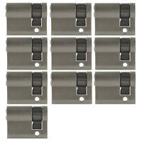 2 -10x Halbzylinder 40mm 30/10 Tür Zylinder Schloss gleichschließend + Schlüssel