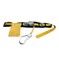 Construction Fall Protective Gear Waist Safety Belt Harness Lanyard Rope