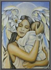 Ángel con Bebé Punto de Cruz Kit Completo No.49-112