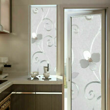 Flower Static Cling Stained Window Films Textured UV Proof Glass Sticker Privacy