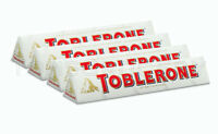 4 x TOBLERONE WHITE Chocolate Bar with Honey & Almond Nougat 100g 3.5oz