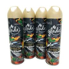 4x Glade Spray Sultry Amber Rhythm Limited Edition 8 oz Black Rum Leather Mint