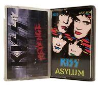 LOT OF 2 KISS CASSETTE TAPES ~ ASYLUM & REVENGE
