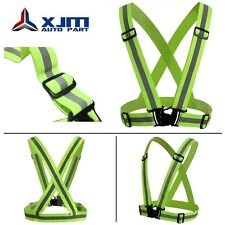 Adjustable Safety Security High Visibility Reflective Vest Jacket Night Run