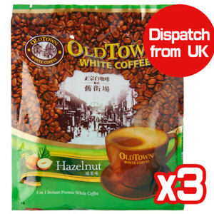 OldTown Old Town 3 in 1 White Coffee Hazelnut (Pack of 3) Total 45 sachets