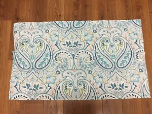POTTERY BARN SHAM 1 KING SIZE BLUE PAISLEY FLORAL GREEN PEACH 100% COTTON