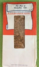 Old Map Of Devonshire 1610 Authentic Replica On Antiqued Parchment No 344
