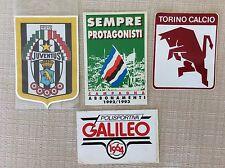 4 ADESIVI SQUADRE CALCIO JUVENTUS TORINO SAMPDORIA GALILEO...B