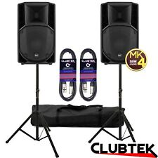 RCF ART 712A MK4 Active Two-Way Speakers 2800W PAIR + FREE Stands Bag Leads UK