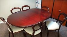 Unbranded Mahogany Oval Table & Chair Sets