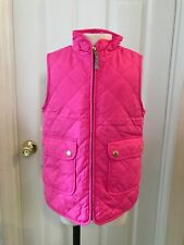 J.CREW CREWCUTS GIRLS' SHERPA-LINED PUFFER VEST SIZE 6/7 PINK