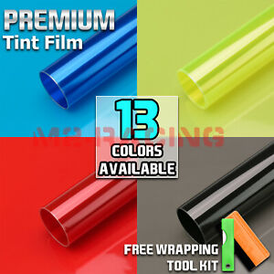 13 Colors Premium Glossy Headlight Taillight Fog Light Vinyl Sticker Tint Film