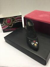 Vtg 1999 Just The Right Shoe #25325 Queen Of Hearts Boot Miniature Ornament Box
