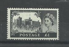 GB 1959 £ 1 castello di valore superiore ST Edwards CORONA WMK UMM/Gomma integra, non linguellato ** VEDI NOTA **