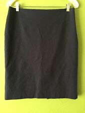 ANNE KLEIN CLASSIC NAVY Blue CAREER STRAIGHT SKIRT KNEE LENGTH SIZE 4