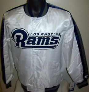 LOS ANGELES RAMS Starter Snap Down Jacket WHITE  M L