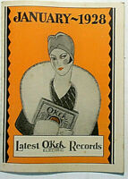 OKeh 78 RPM CATALOGUE Jan. 1928, 20 pages, photos OLD TIMEY, JAZZ, POP NM MINUS