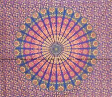 Peacock mandala wall hanging hippie bohemian bedspread indian cotton tapestry