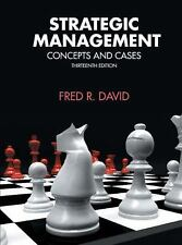 Strategic Management (13th Edition), Fred R. David (Author), Good Condition, Boo