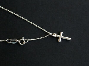 925 sterling silver cross pendant charm necklace with chain