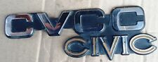 HONDA CIVIC EB3 5DOORS 1,2cc MODEL 1978 79 TAILGATE BADGES EMBLEM USED