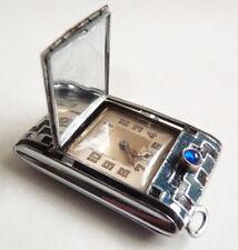montre à guichet mécanique WATCH pendulette ART DECO  émail watch enamel
