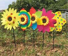 New Sunflower Windmill Wind Spinner Decoration Home Yard Garden Decor