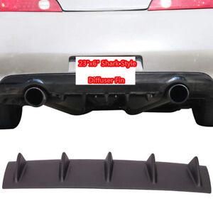 Car SUV Shark Fin 5 Wing Lip Diffuser Rear Bumper Chassis Black ABS Spoiler Lip