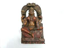 Buddha Wandrelief Relief Indien Wandbild Skulptur Holz geschnitzt 23,5 cm