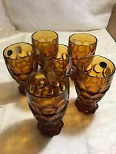 12 ea HEISEY Imperial No 1505 Provincial 12oz Iced Tea Tumbler Glass Amber NEW
