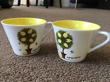 "MID CENTURY SIGNED GEORGES BRIARD ""LEMON TREE"" 2 CUPS"