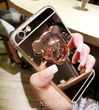 New Shockproof Fashion Mirror Crystal Ring Holder Stand Case for Various Phones