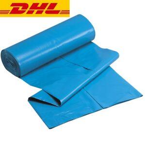 Müllsäcke 240 liter Abfall-Beutel Mülltüten sehr stabil und reißfest Blau Schwar