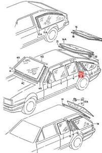 Genuine Volkswagen Door Window Right Rear NOS Quantum 32 321 322 323 323845216F