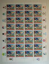 1989   Italia Inter  Campione D'Italia 650 lire Foglio Intero  MNH**